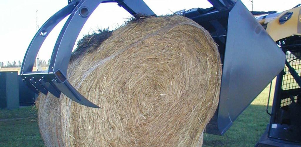 Virnig Hay Bucket Grapple Skid Steer Loader Attachment